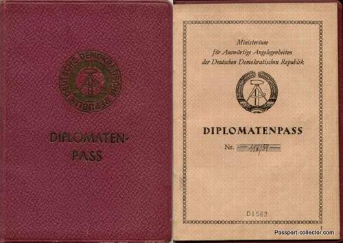 Early passport issues East Germany (GDR) 1950s