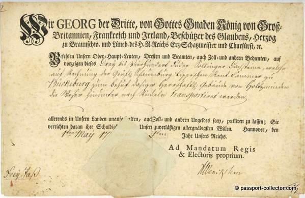 King George III 1781