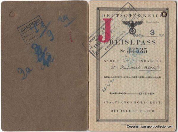 German travel missing J-stamp