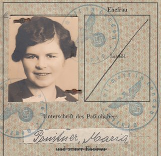 Interesting German Passport 1939 issued in London