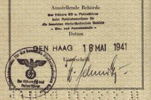 SS issued passport in the occupied Netherlands