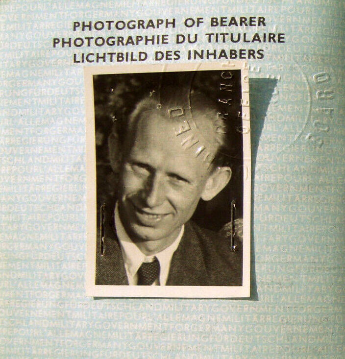 German Passport 1949 of former NS Propaganda Photographer