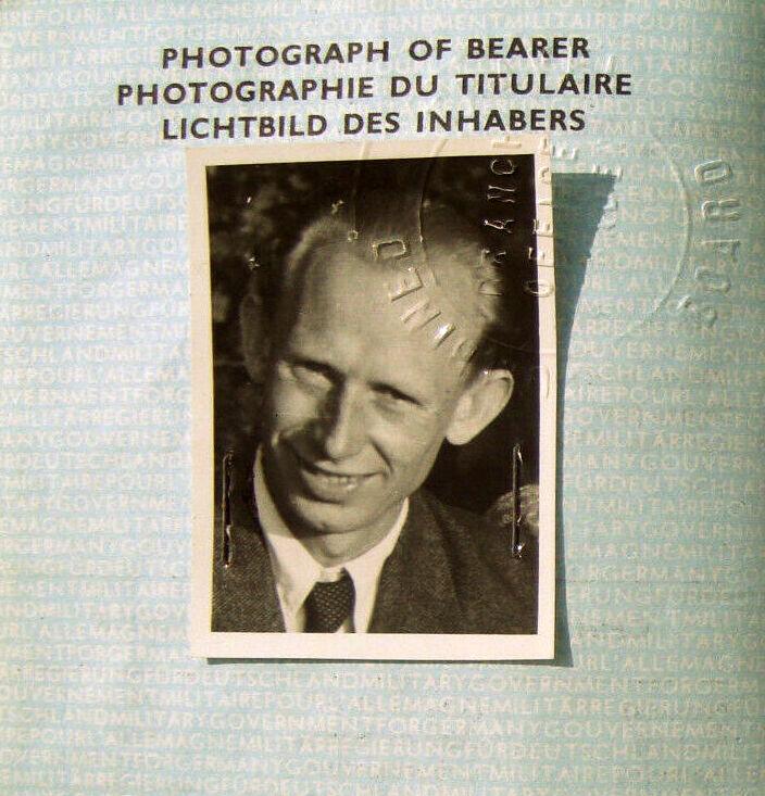 German Passport 1949 of former NS Propaganda Photographer
