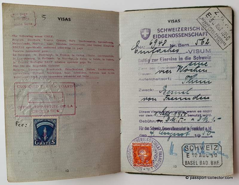 A most interesting document - the passport of Prof. Dr. Franz Böhm