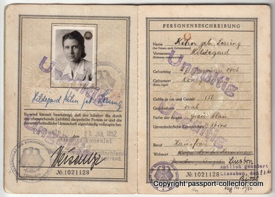 Early German passport 1952 issued in Pretoria