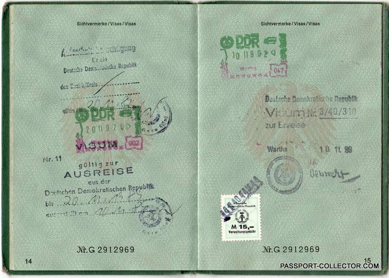 last visa east germany