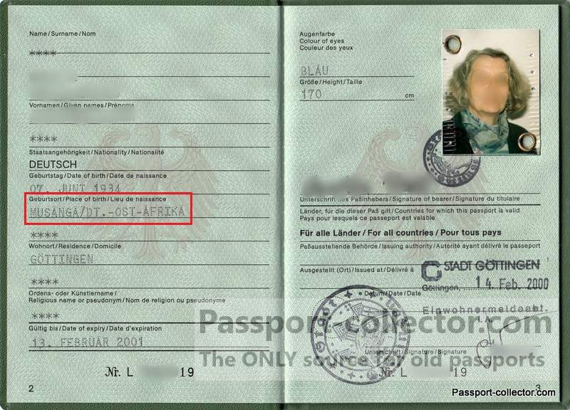modern German passport