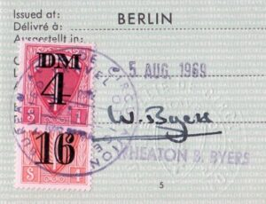 Passports of an East German Nuclear Scientist