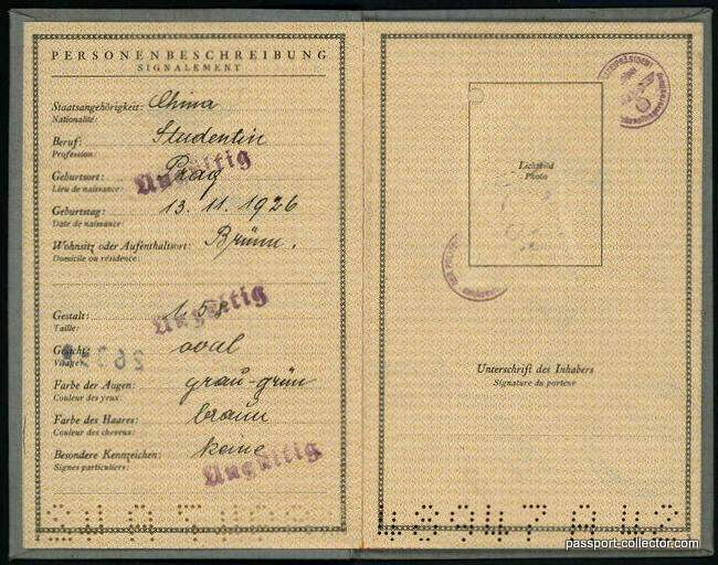 German Alien Passport Chinese