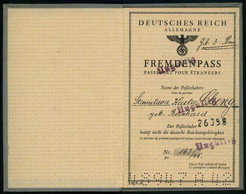 German Alien Passport 1945 | Chinese Student