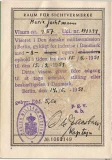 German Passport – Danish Military Mission