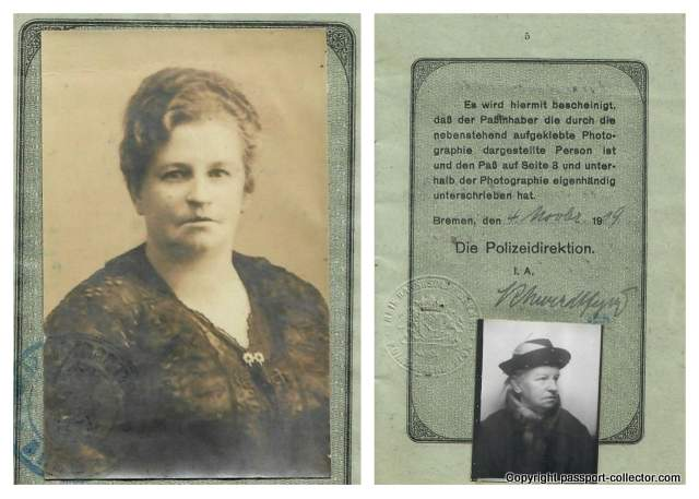 Bremen passport 1919