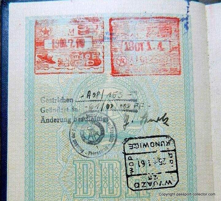 east german passport DPRK
