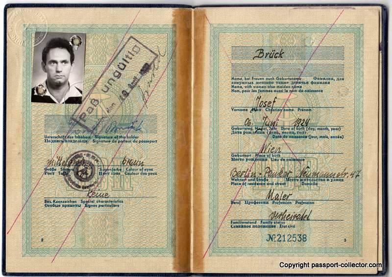 East German passport 1961