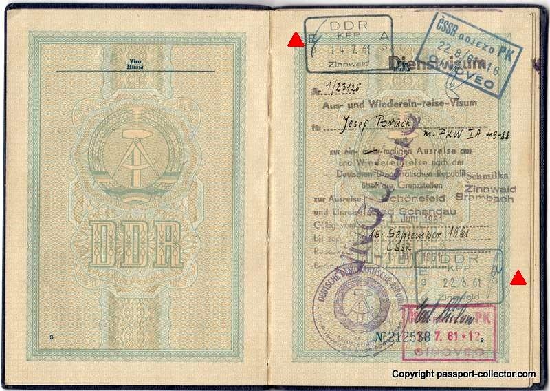 East German visa 1961