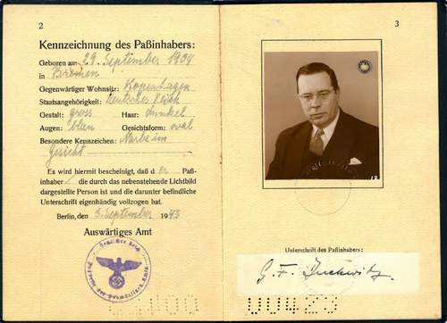 Diplomatic Passport Georg Duckwitz