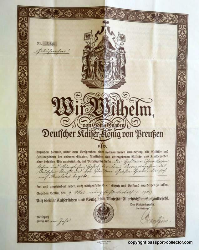 German diplomatic passport court lady