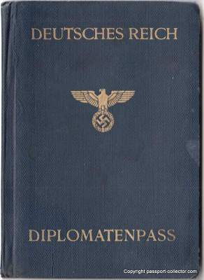 Germany Diplomatic Passport 1945, cover