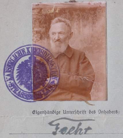 A German Empire Alsace-Lorraine passport not seen before