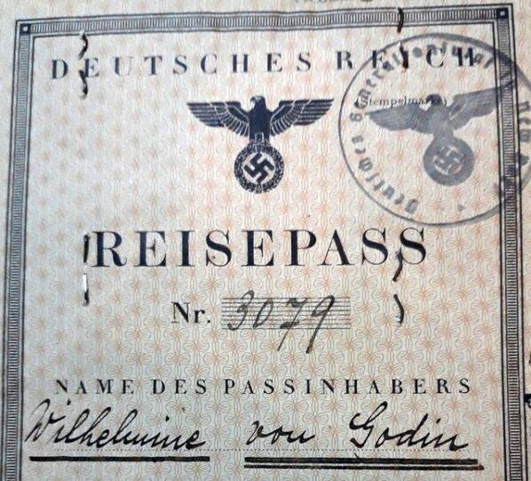 German passport New York 1939