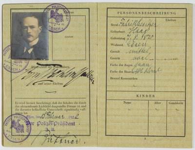 Gustav Krupp von Bohlen und Halbach Passport