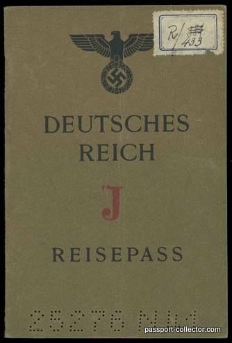 Protectorate Bohemia-Moravia J-Passport 1942