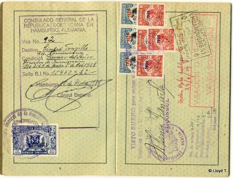 German Jew fleeing to the Domenican Republic in 1938