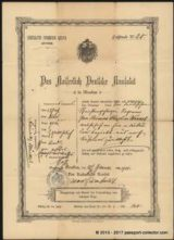 German Empire Passport Issued At Their Consulate In Moscow