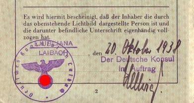 A Rare Find! NS-German Passports Issued in Ljubljana