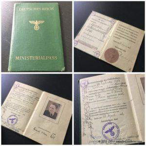 German Nazi Passport 1938