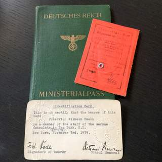 Nazi Passport 1938 – New York-Mexico-Panama-Guatemala