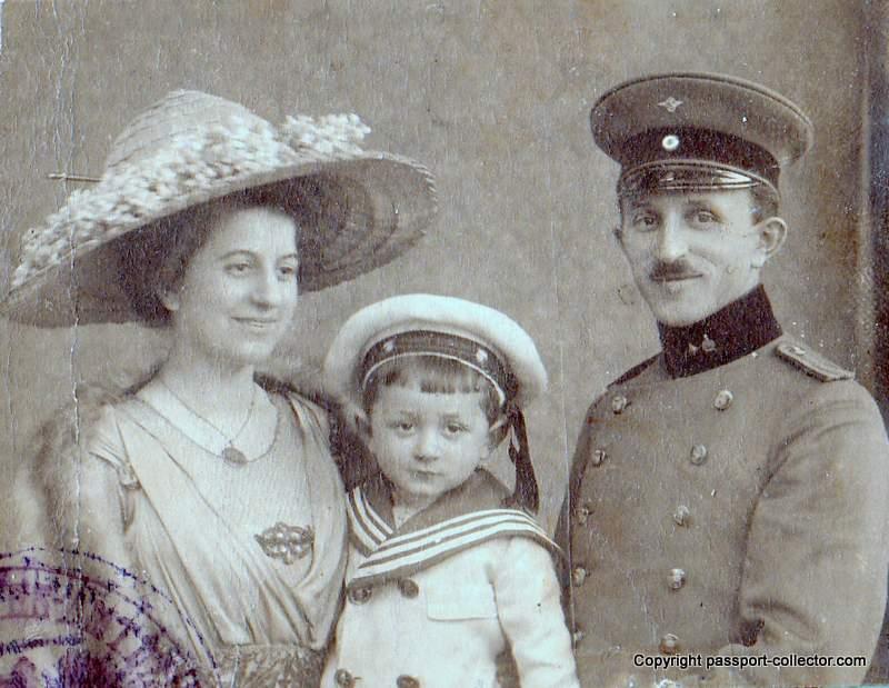 German Empire passport photo