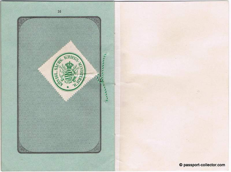 Saxony passport war department