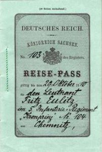 An unusual German Empire passport - Kingdom of Saxony