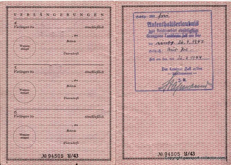 Passport Karl von Krempler