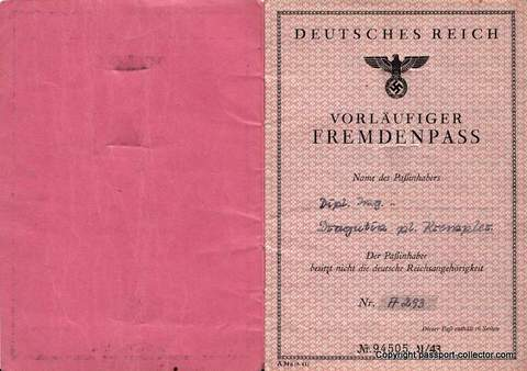 SS Officer Passport – Karl von Krempler