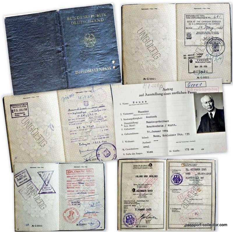 Germany's First President Passport