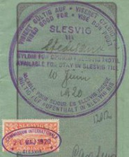 German Empire Passport With SLESVIG Stamp