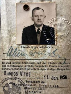 German post-war passport with a hidden message