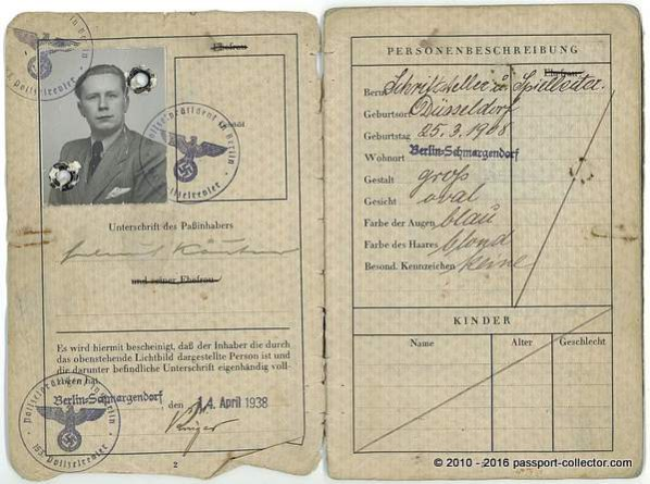 Helmut Käutner's Passport - Important German Film Director