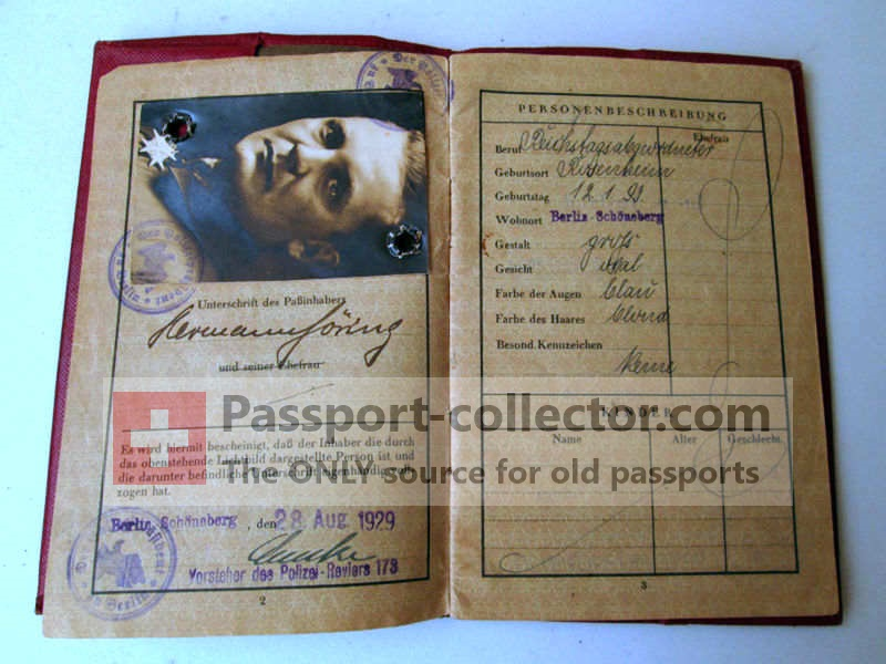 Hermann Goering Passport Auction