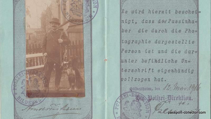 Prussia passport 1916 Passport history old passports