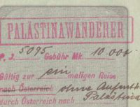 German Prussian Passport 1922 - Palestine Wanderer