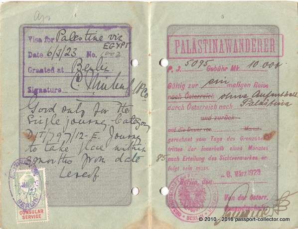 prussia passport 1922