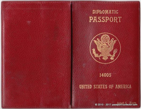 US Diplomatic Passports 1952 with Leather Covers