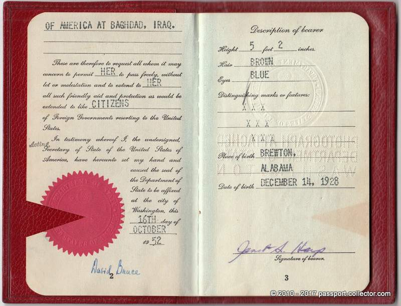 Two Awesome US Diplomatic Passports Including Unusual Leather Covers