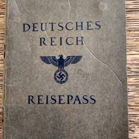 German J-Passport of Dr. Rudolf Schneeweiss