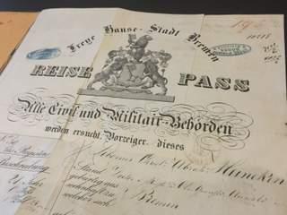 Passport Register from the City of Bremen 1863-1936