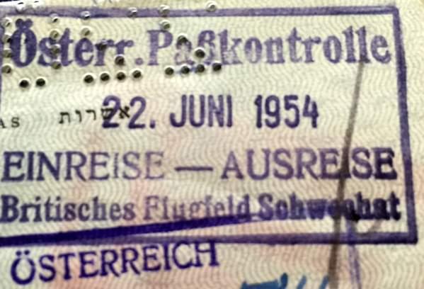 Early Israeli Passport Germany
