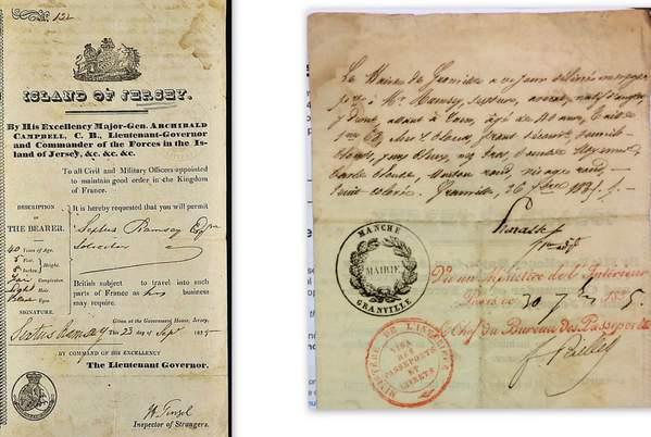 Early Island of Jersey Passport 1835